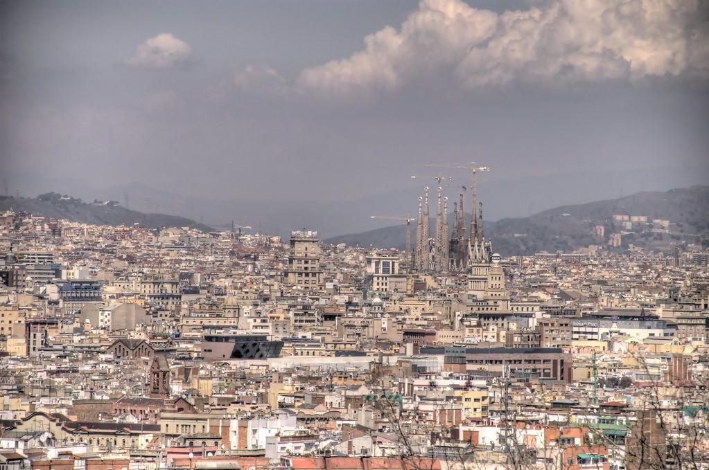 View of Barcelona with Sagrada Familia